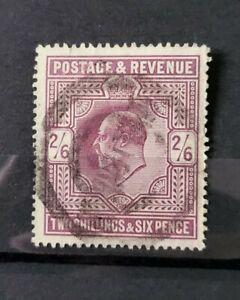 GB KING EDWARD VII SG 262 2S6D DULL PURPLE USED