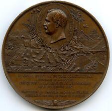 Egypte Canal de Suez Inauguration par l'impératrice Médaille 1869 Paris
