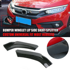 Universal Bumpers Winglet Lip Side Skirt Splitter Canard Diffuser Carbon Fiber