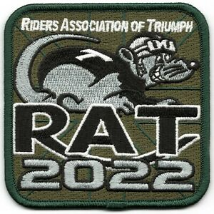 2022 Riders Association of Triumph Motorcycles RAT Patch Badge