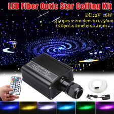 16W RGBW Fiber Optic LED Light Star Ceiling Kit 450Pcs 2M 0.75mm Bright Crystal