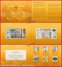 SURINAM SURINAME 50 dollars 2012 Commemorative 55 years Folder Pick 167  UNC