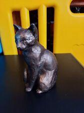 Cat Sitting Cold Cast Bronze Ornament - Willard - Frith Sculpture