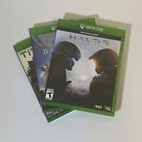 Lot Of 3 Xbox One Games Halo 5 Destiny Titan Fall
