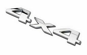 Quality 3D Matel 4x4 Four wheel drive Car sticker Logo Emblem Badge - Silver