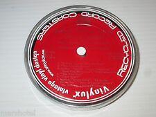 RECORD ALBUM LABEL LAMINATED DRINK COASTER SET HOLIDAY CHRISTMAS DESIGN VINYLUX