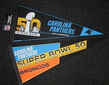 Lot of 2 Different Carolina Panthers Super Bowl 50 Pennants 02/07/2016