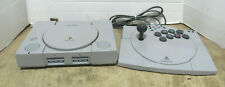 Sony Playstation One Ps1 Game Console Scph-1001 & Asciiware Specialized Joystick