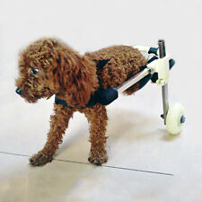 "Stainless Steel Cart Height 10""  Pet Dog Wheelchair Walk For Handicapped Doggie"