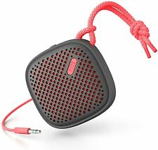 NudeAudio Move S Universal Portable 3.5mm Wired Speaker - Charcoal/Coral
