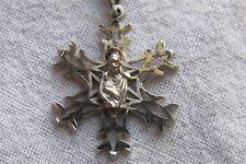 Reason for the Season Necklace Christmas Silver Tone Mary & Jesus Snowflake Star