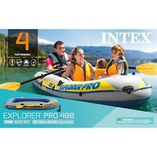 Intex Inflatable Kayak Explorer Pro 400 4-Person Boat with Oars & Pump