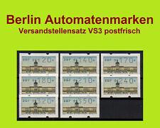 Berlin ATM Versandstellensatz VS3 20-350Pf. xx / Automatenmarken Klüssendorf