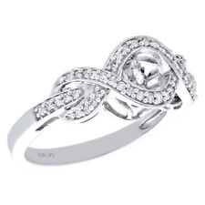 Right Hand Cocktail Ring 1/4 Ct. 10K White Gold Dancing Diamond Love Infinity