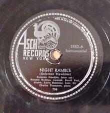 COLEMAN HAWKINS on ASCH 3552 - Night Ramble / Ladies' Lullaby JAZZ 78 VV+