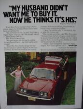 1979 Volvo 242 GT Swedish Car Husband Didn't Want It Vintage Print Ad 12905