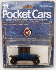 """Tomica Pocket Cars F11 Ford """"Tall T"""" Model/Type T MOC Blue 1:60 Scale Japan"""