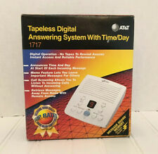 AT&T Tapeless Digital Answering Machine Model 1717 Time/Day Display Tested