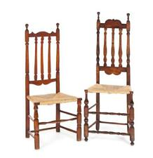 Two Connecticut Banister Back Side Chairs. Lot 671