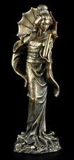 Geisha Figur - Koyuki mit Schirm - Statue Deko asiatisch