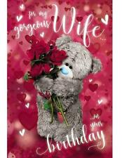 Me to You for My Wife 3d Hologram Birthday Card Tatty Teddy Bear