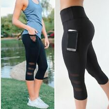 US Women's Sports YOGA Gym Fitness Leggings Pants Jumpsuit Athletic Apparel S928