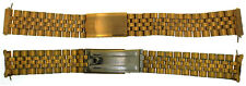 Vintage 1977 Omega 10K Gold Filled & Stainless Steel 18mm Watch Band Bracelet
