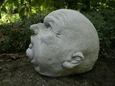 Cement Uncle Fester Bald Head Garden Art Statue Concrete Cool & Weird