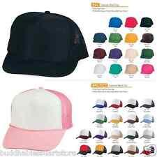 Get 5 Blank Two Tone Foam Mesh Trucker Hats Caps Snapback WHOLESALE LOT PACK