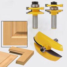 3pcs 1/2 Handle Panel Cabinet Door Router Bit Milling Cutter Hand Tool