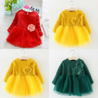 Toddler Infant Baby Girls Casual Tulle Princess Floral Dress Outfits Clothes Dre
