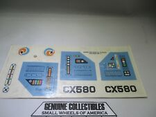 """Vintage"" Fisher-Price Construx Star Force Command #587 ORIGINAL DECALS 1984"