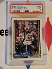 New listing 1992 Topps Shaquille O'neal RC PSA 9 Mint