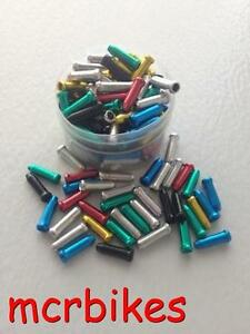 Coloured Alloy Bicycle Cable End Crimps Anodised Inner Brake/ Gear Cable Ends