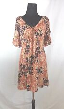 Kensie Pretty Misses/Juniors Sz L Floral dress with flutted bell sleeve multi