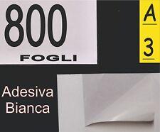 800 FOGLI CARTA ADESIVA BIANCA  MATT X ETICHETTE A3 FOTO