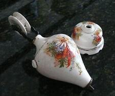 antiker Lampenzug, französische Keramik, florales Motiv, Jahrhundertwende