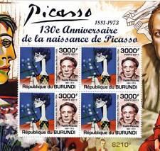 PABLO PICASSO Artist & Painter / Abstract Art Stamp Sheet #4 of 5 (2011 Burundi)