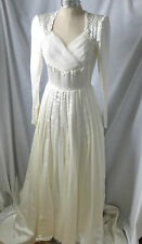 Vintage,c1940,EMMA DOMB,Silk Satin Wedding Dress, 12