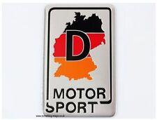 Brushed Aluminium Germany Map D Motor Sport Badge VW
