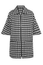 A.P.C. Black and White Wool Checked Jacket. UK 10/Medium