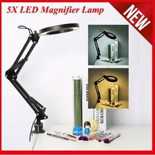 5X LED Magnifying Lamp With Clamp Craft Glass Loupe Lab Work Light Magnifier