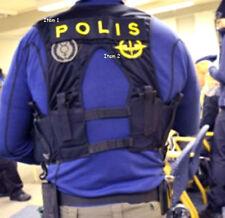 "SWEDEN SWEDISH POLISEN POLIS PIKETEN PIKETENHETEN hook/loop SSI: SWAT + 9"" POLIS"