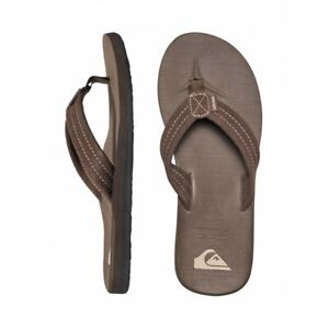 QUIKSILVER CARVER MENS SUEDE THONGS FLIP FLOPS SANDALS BRAND NEW WITH TAGS