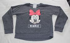 Disney Minnie Mouse Girls Dark Grey Printed Jumper Windcheater Size 14 New