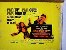 """James Bond 007 """"On Her Majesty's Secret Service"""" Movie Glass Advertising Slide"""