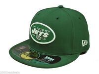 New Era 59Fifty NFL Football Cap New York Jets Green White On Field Fitted Hat