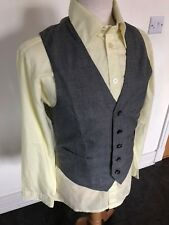 VINTAGE 70'S GREY DRESS MOD DAPPER WAISTCOAT VEST SMALL