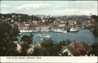 Norwich CT Nice View of Harbor c1910 Postcard