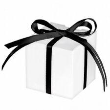 100 Cajas de Favor 5 Cm Blanco Brillante, boda, fiesta Baby Shower Decoraciones